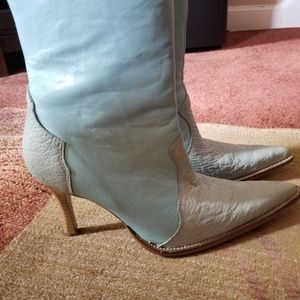 Ostrich Leather Western Boots